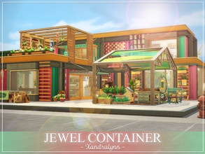 Sims 4 — Jewel Container by Xandralynn — A multilevel shipping container home, good for a creative sim. Lot includes