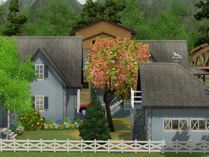 Sims 3 — Le Cheval Blanc Ecurie empty no cc by sgK452 — The stable white horse On a plot of 30x30 This large house that I
