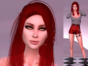 Sims 4 — Jane Fox by YNRTG-S — Red is considered an aggressive and dangerous color; no wonder it was the color Jane dyed