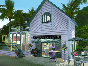Sims 3 — Ma Petite Boulangerie by sgK452 — Here is a small bakery on a 15x10 plot that offers you to buy your pastry and