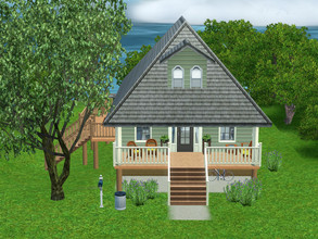 Sims 3 — Modest Beach Cottage (no CC) by lrw7572 — 2 bedroom, 1 bath. Looking to get away from the hustle and bustle of