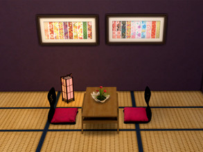 Sims 4 — Japanese paintings rt1 by rrtt4 — Japanese color for your living room! Paintings with Japanese traditional