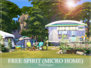 Sims 4 — Free Spirit (Micro Home) by Xandralynn — A trailer/camping caravan designed for a group of sim friends. Lot