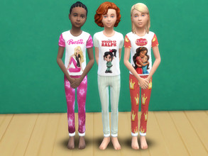 Sims 4 — Cartoon pyjama for kids by Arisha_214 — Pyjama for little princesses :) This pyjama set includes: Moana pyjama
