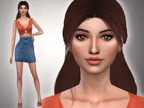 Sims 4 — Michelle Haines by Mini_Simmer — Download the CC from the Creator notes (by clicking on the text) Don't reclaim