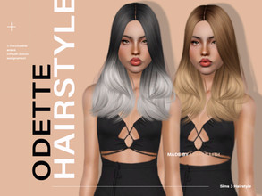 Sims 3 — LeahLillith Odette Hairstyle by Leah_Lillith — Odette Hairstyle All LODs Smooth bones Custom CAS thumbnail