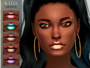 Sims 4 — [Suzue] Katia Lipstick N15 by Suzue — * 25 Swatches * For Female (Teen to Child) * HQ Compatible