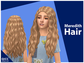 Sims 4 — Meredith Hair by qicc — Enjoy! - Maxis Match - Base game compatible - Hat compatible - Child - 9 EA swatches