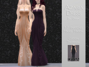 Sims 4 — Azaria Dress by Dissia — Azaria Dress 17 swatches Hope you like it ;)