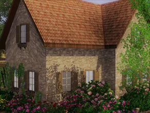 Sims 3 — Pretty stone house empty no CC by sgK452 — It's up to you to furnish it. At least 3 bedrooms upstairs or 2 with