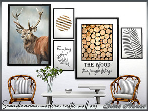 Sims 4 — Scandinavian modern rustic wall art by Sims_House — Scandinavian modern rustic wall art 6 posters of the same