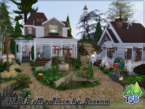 Sims 4 — TSBB My Place by Bozena — Family Home for Bridleton Bay Includes: - kitchen with dining room, - living room - 3