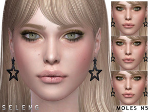 Sims 4 — Moles N5 by Seleng — Female l Male Child to Elder 5 swatches Skin Detail Section Custom Thumbnail HQ compatible