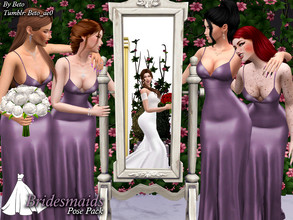 Sims 4 — Bridesmaids (Pose Pack) by Beto_ae0 — Bridesmaids poses, hope you like them To use the poses you need the Mod