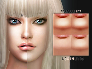 Sims 4 — Contour N7 by cosimetic — - This contour can use on all genders and from teen to elder. - Contains [10] colors