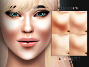 Sims 4 — Contour N9 by cosimetic — - This contour can use on all genders and from teen to elder. - Contains [10] colors