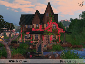 Sims 3 — Witch Cove by timi722 — Cosy home for one Witch. Porch with a view to the pond. Small bridge drives to the front