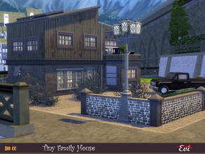 Sims 4 — Tiny Family Home by evi — It is tiny house and easily to handle it but it has nothing to be jealous of a bigger