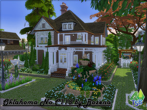 Sims 4 — Oklahoma No.C118 by Bozena — Lot: 40x30 Value: 184,786 - 3 bedrooms - 2 bathroom - kitchen - dining with