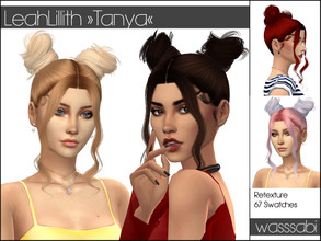 Sims 4 — Retexture 'Tanya' - Mesh needed by wasssabi2 — Retexture of LeahLillith's 'Tanya' hairstyle ***** mesh ( =