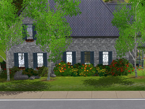 Sims 3 — Poplars empty no cc by sgK452 — flower garden on a 20x20 plot for sims who love nature but not gardening! The