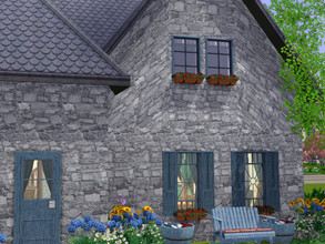 Sims 3 — Poplars Cottage no cc by sgK452 — This fully furnished house can accommodate a family of 2 adults and 2 teenage