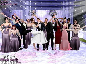 Sims 4 — Mega party (Pose Pack) by Beto_ae0 — A super group pose for wonderful parties To use the poses you need the Mod