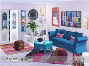 Sims 4 — Medina Living by Pilar — Objects to be used together or combined with other styles