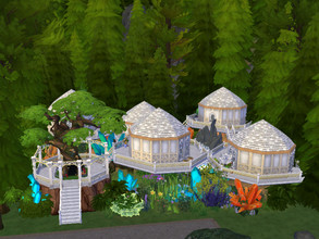 Sims 4 — Elven village by Anny_M4 — Here is a magical elven village. It has five small houses with separate kitchens and