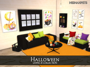 Sims 4 — Halloween Living II {Mesh Required} by neinahpets — A Halloween 15 piece living collection suite featuring: 2