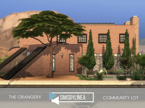 Sims 4 — The Orangery by SIMSBYLINEA — This public pool in the style of an art nouveau orangery is the perfect