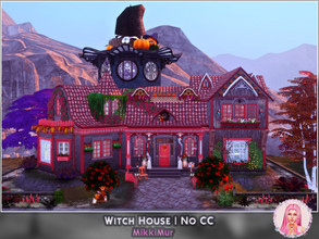 Sims 4 — Witch House by MikkiMur_sims — I was inspired by gingerbread house (Brothers Grimm). So, I wanted to create cozy