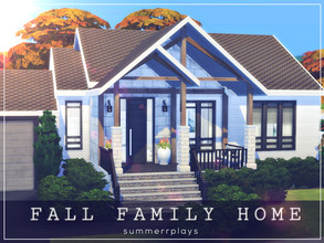 Sims 4 — Fall Family Home by Summerr_Plays — Beautiful Family home for your Sims. Perfect for a small sims family. Two