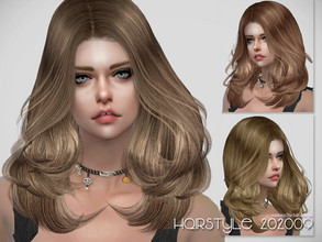 Sims 4 — S-Club ts4 WM Hair 202009 by S-Club — Hairstyle, 22 swatches, hope you like, thank you.