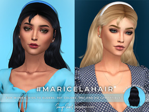 Sims 4 — SonyaSims' Maricela Hair by SonyaSimsCC — - All LODs (essential for gameplay performance). - HQ and hat