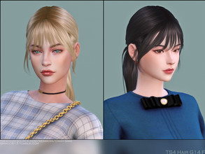 Sims 4 — DaisySims Female Hair G14 by Daisy-Sims — 20 colors hat compatible all LODs 13k poly at LOD0 HQ compatible teen