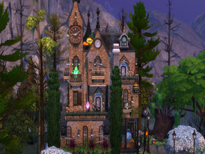 Sims 4 — Haunted Manor by susancho932 — A spooky and haunted manor awaits for you to discover hidden ghost gnomes. Why