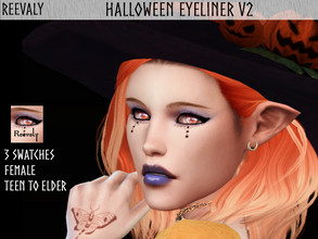 Sims 4 — Halloween Collabration with PlayersWonderland V2 by Reevaly — 3 Swatches. Teen to Elder. For Female. Base Game