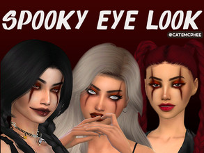 Sims 4 — ES-11 / Spooky Halloween Eye Look by catemcphee — - eyeshadow - three swatches happy spooky month :)