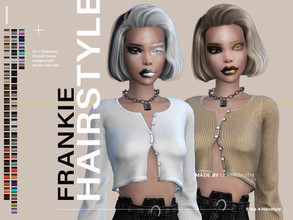 Sims 4 — LeahLillith Frankie Hairstyle by Leah_Lillith — Frankie Hairstyle All LODs Smooth bones Custom CAS thumbnail