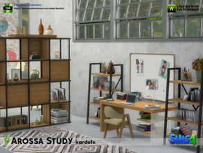 Sims 4 — kardofe_Arossa Study by kardofe — Set of eleven new meshes to recreate a beautiful study, which when coupled