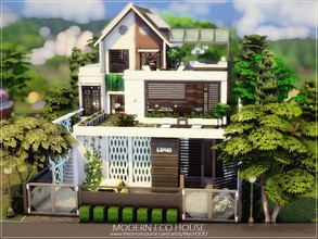 Sims 4 — Modern Eco House by MychQQQ — Lot: 40x30 Value: $ 217,239 Lot type: Residential House contains: - 3 bedrooms - 3