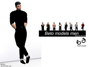 Sims 4 — Beto Models Men (Poses for the CAS) by Beto_ae0 — 9 male poses for CAS, work with Geek trait, I hope you love