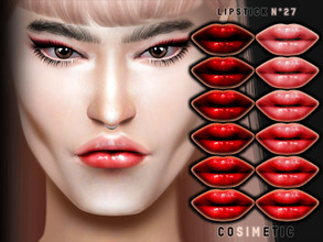 Sims 4 — COSIMETIC Lipstick N27 by cosimetic — - This lipstick can use on all genders and from teen to elder. - Contains