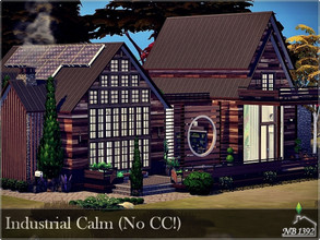 Sims 4 — Industrial Calm (No CC!) by nobody13922 — A house inspired by the industrial style in a milder version. Intended