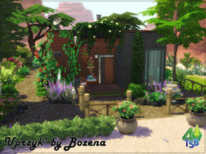 Sims 4 — Uprzyk by Bozena — The chalet is located on the edge of town and has a great view of the StrangerVille creek. On