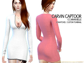 Sims 4 — CC.Ninni Belle by carvin_captoor — Created for sims4 Original Mesh All Lod 8 Swatches Don't Recolor And Claim
