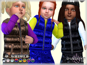 Sims 4 — Quilted Vest T/F by bukovka — Quilted vest for the toddler girl. Installed offline. Seasons expansion required.
