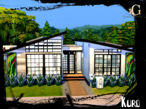 Sims 4 — Kuro by GenkaiHaretsu — Modern family house in eco vibes.