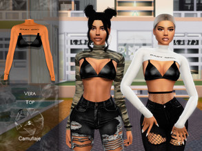Sims 4 — Camuflaje - Vera (Top) by Camuflaje — * New mesh * Compatible with the base game * HQ * All LODs (I recommend